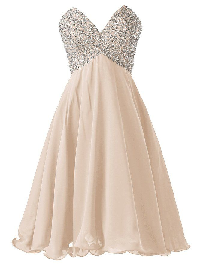 Champagne Short Homecoming Dresses,v-neck Homecoming Dresses ...