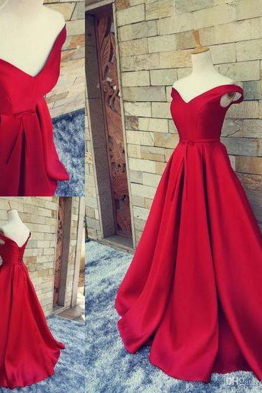 Red, Carpet, Long Formal Pageant Prom dersses, With Belt, Sexy, V Neck, Ball Gowns, Open Back, Lace, Up Vintage Party Evening Gowns