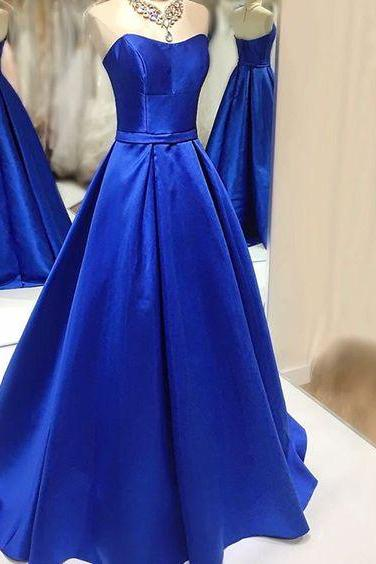Upd0129, 2017 Custom Made, Royal Blue Prom Dress,Sexy Sweetheart Prom Dresses,Floor Length Prom Dress,Backless Prom Dress