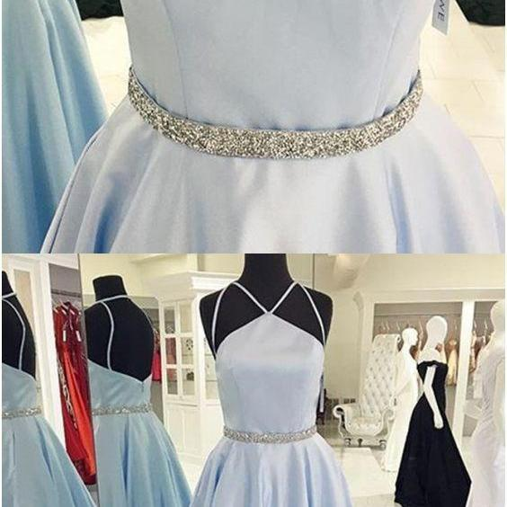 UPD0329, simple prom dresses,a line prom dresses long prom dresses,beaded prom gowns,backless prom dresses